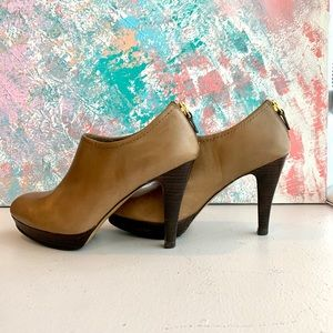 Franco Sarto taupe colored ankle booties